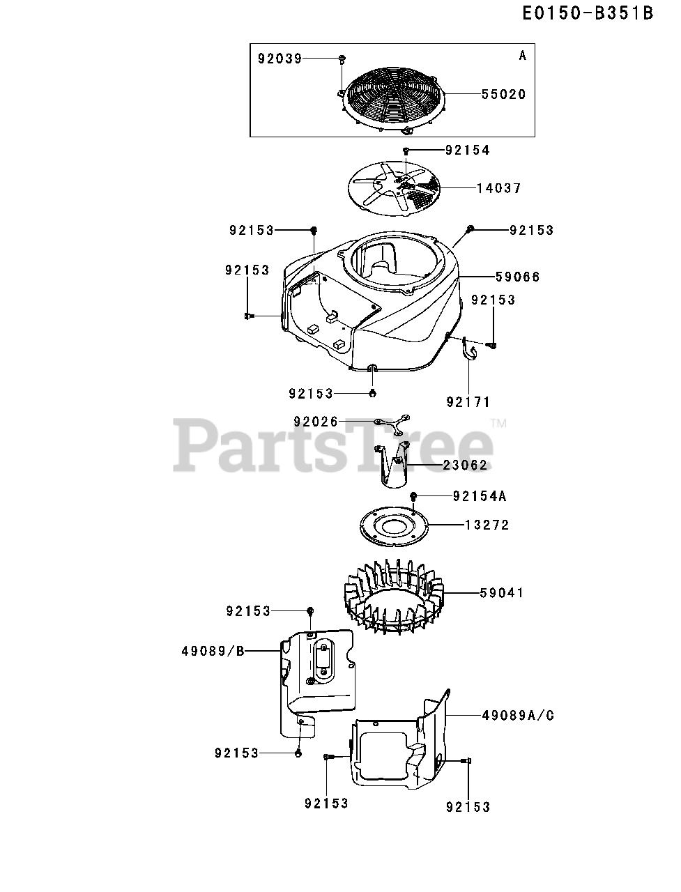 Kawasaki FR651V-AS37 - Kawasaki Engine COOLING-EQUIPMENT Parts Lookup with  Diagrams   PartsTreePartsTree