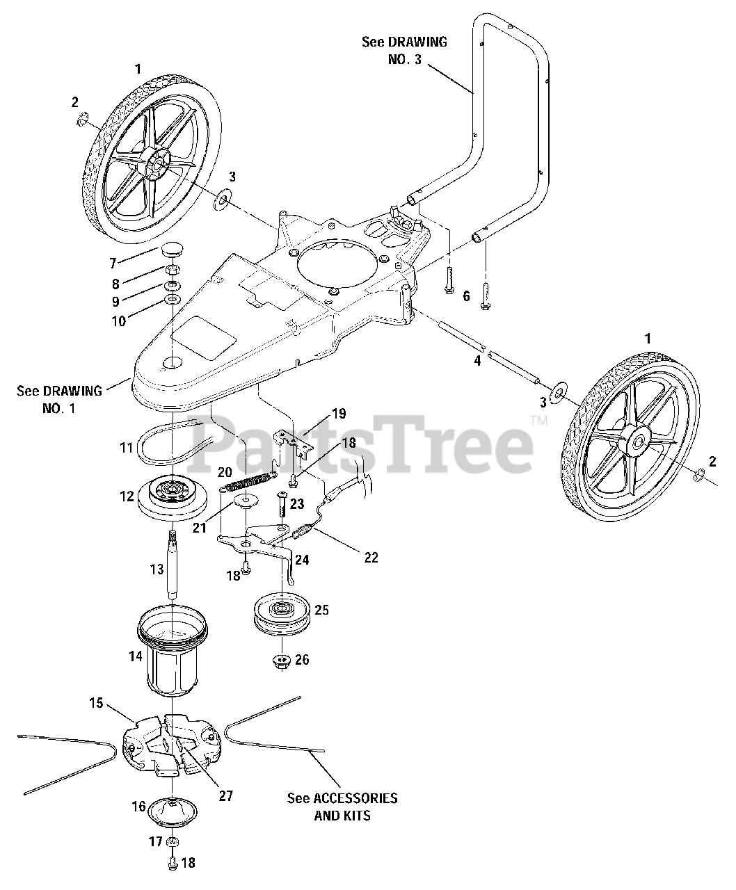 Craftsman Walk Behind Trimmer Parts Diagram
