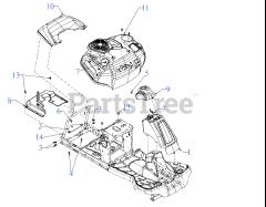 Craftsman CMXGRAM1222292 (13AC26JD293) - Craftsman R110 Rear
