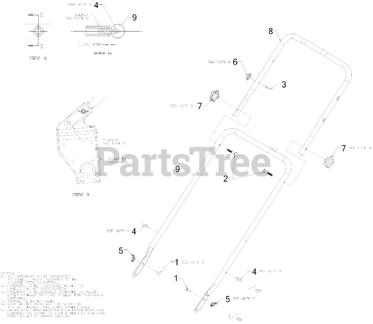 MTD Replacement Part # 712-0397A NUT-WING 1//4-20