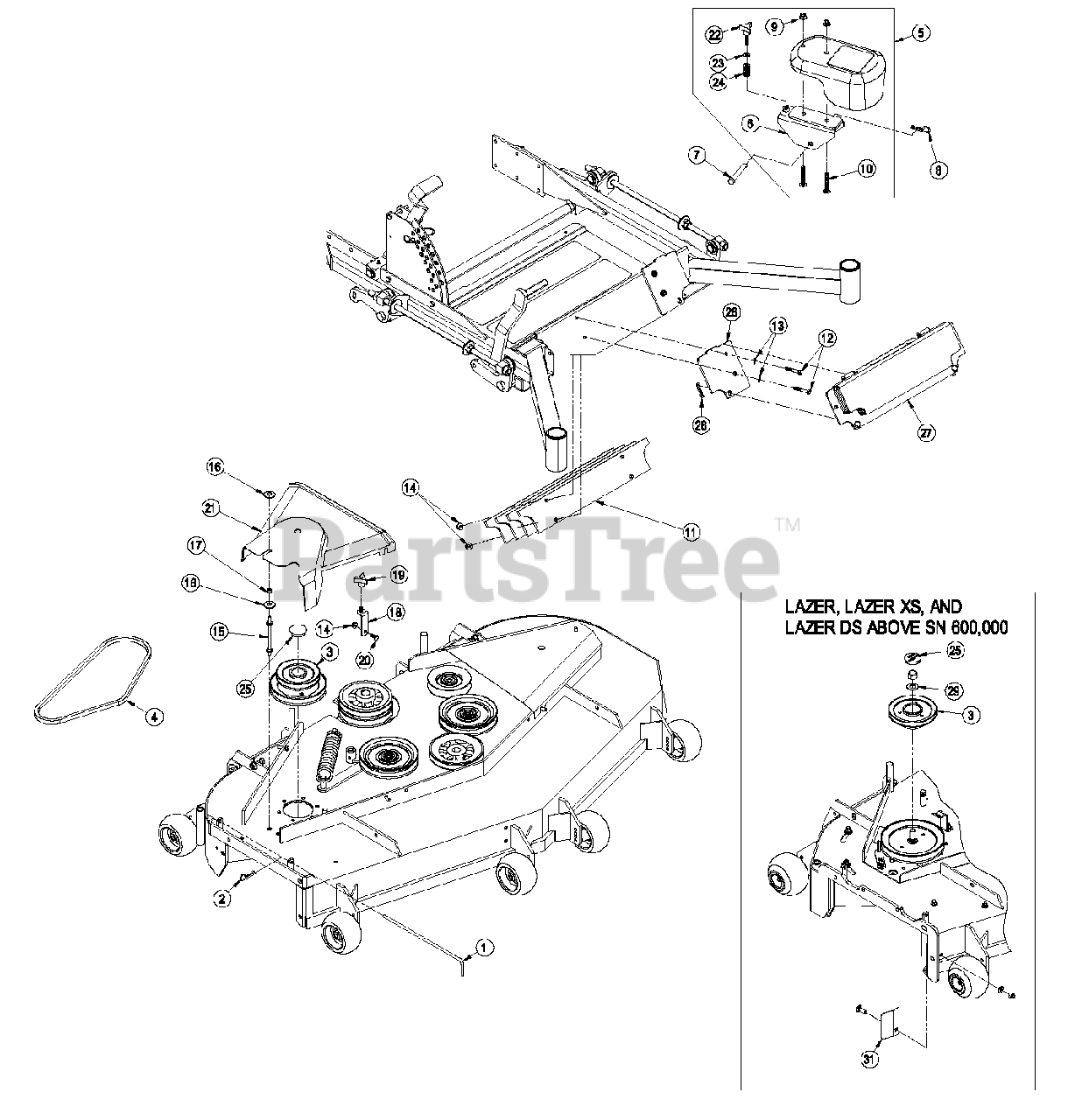Exmark Lazer Z 60 Drive Belt Diagram