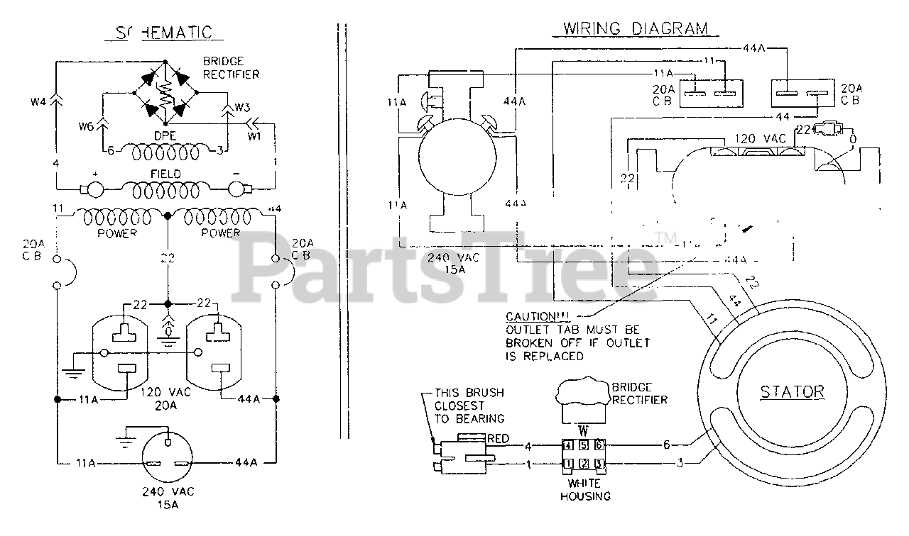 Generac T4016 (5506-0) - Generac 4,000 Watt Portable Generator Electrical  Schematic & Wiring Diagram No. 74192 Parts Lookup with Diagrams   PartsTree   Generac 4000 Wiring Schematic      PartsTree