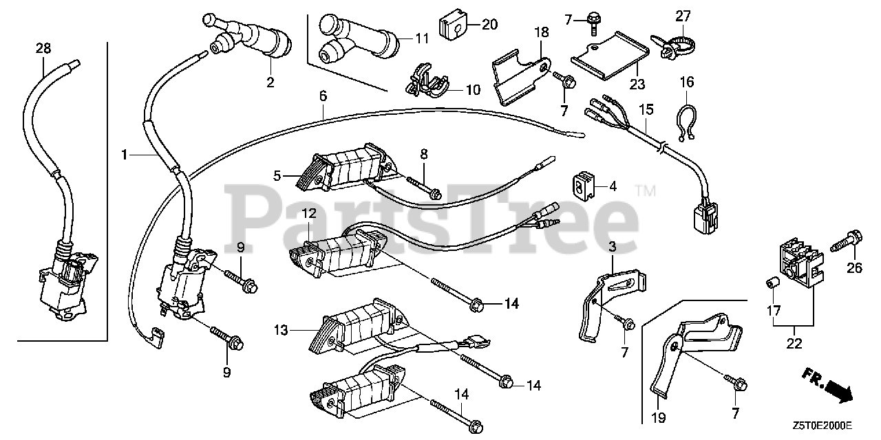 Honda GX390 UT2 HA2/A (GCBCT) - Honda Engine, Made in Thailand (SN:  GCBCT-3000001 - GCBCT-9999999) IGNITION COIL (1) Parts Lookup with Diagrams  | PartsTree | Gx390 Coil Wiring Diagram |  | PartsTree