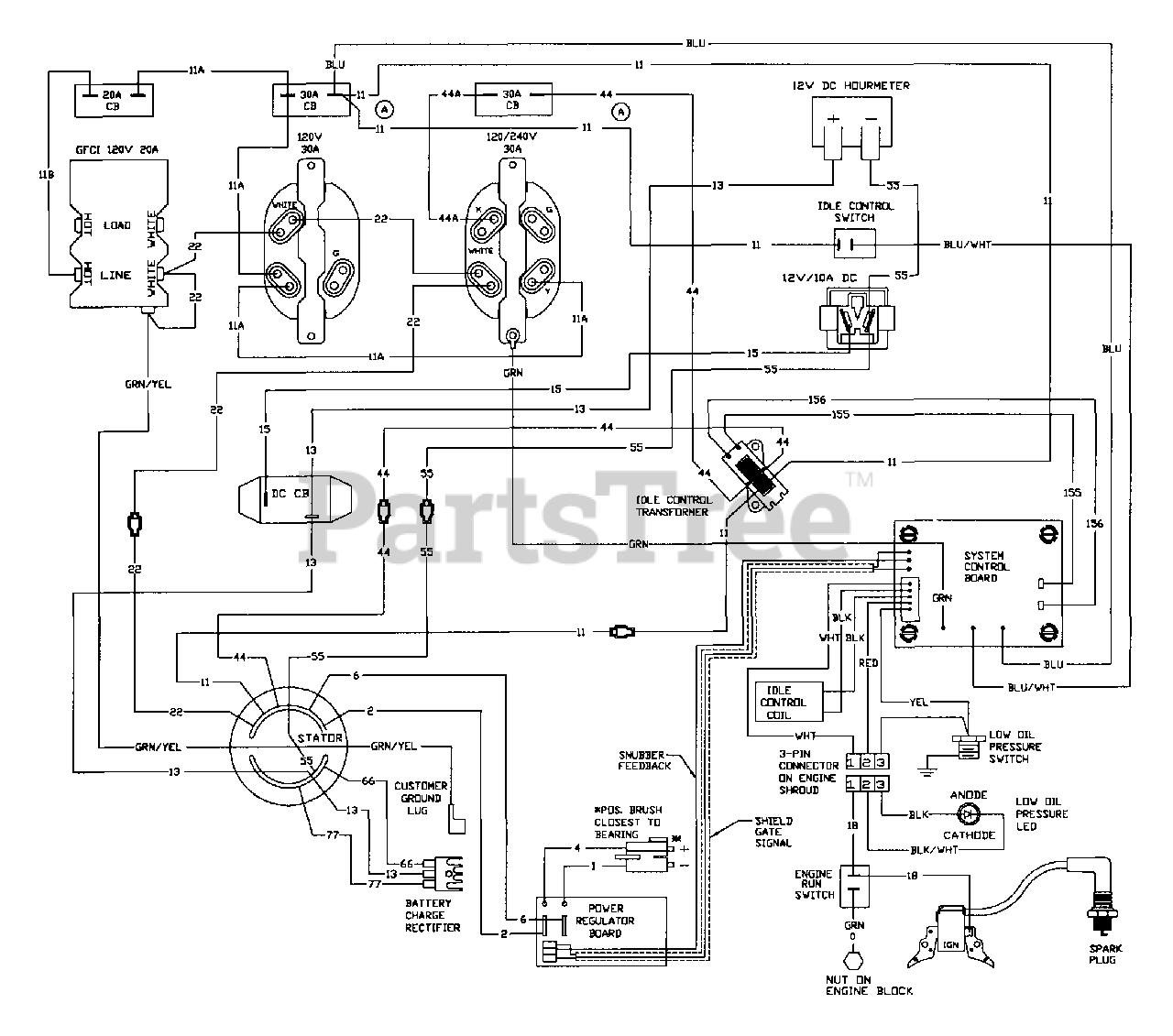 Generac 1006-1 - Generac MEGAFORCE 6,500 Watt Portable Generator Wiring  Diagram Parts Lookup with Diagrams | PartsTreePartsTree