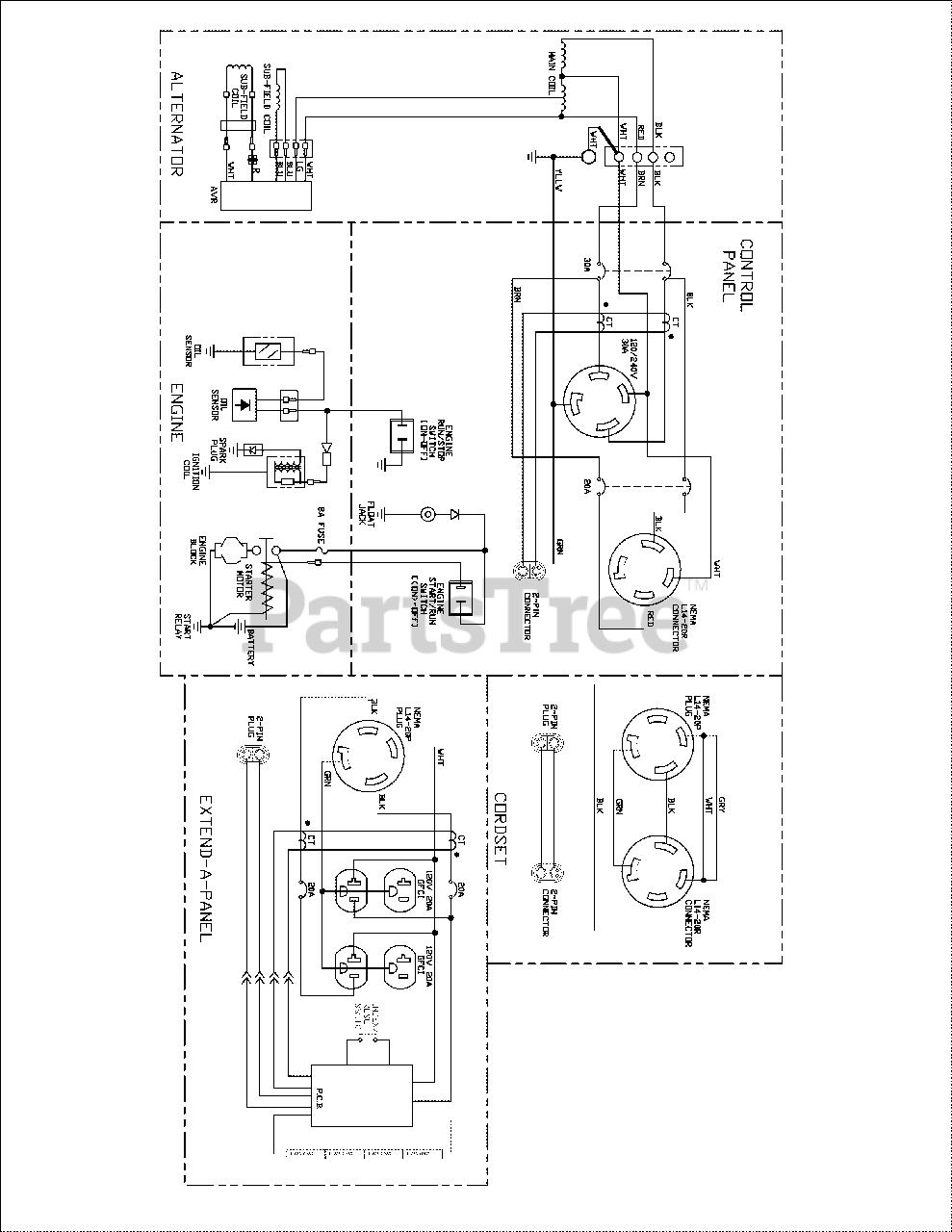 troy bilt engine wiring diagram troy bilt 030478 01 troy bilt xp 7 000 watt portable generator  troy bilt xp 7 000 watt portable