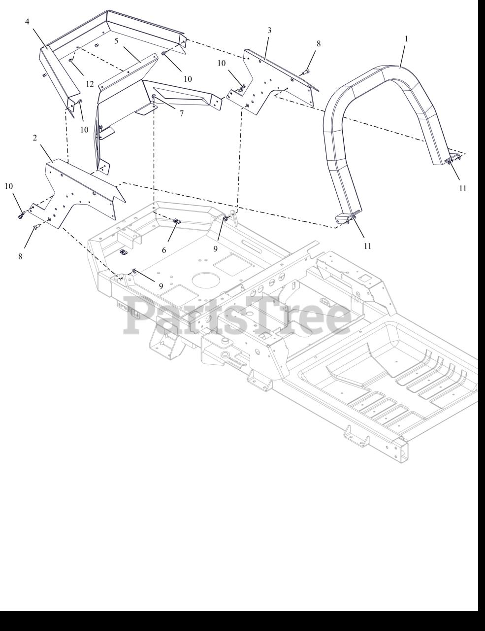 Ariens 915273 Ariens Ikon Xd 60 Zero Turn Mower 23hp Kawasaki Fr Sn 000101 Above Engine Guard Parts Lookup With Diagrams Partstree