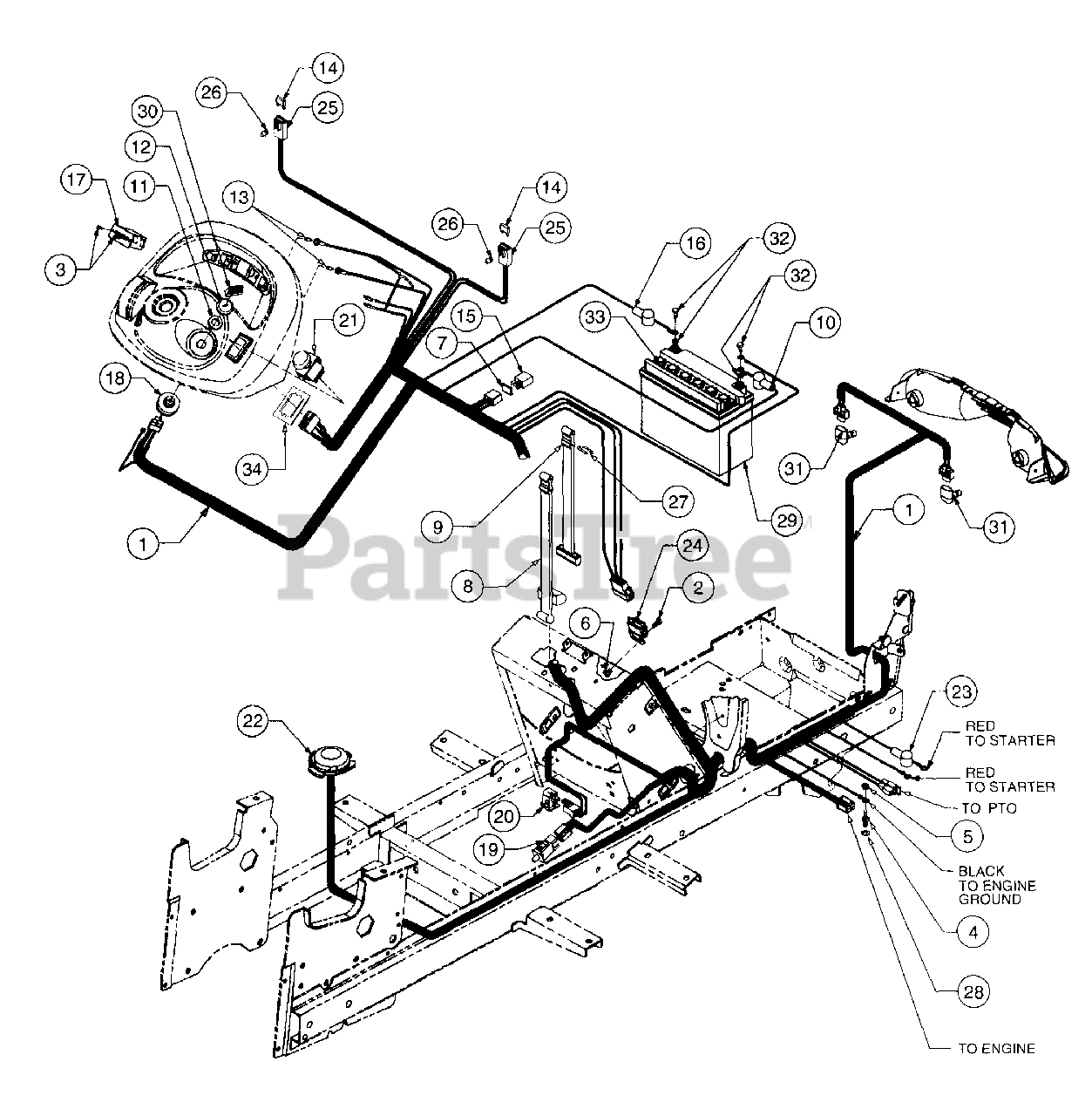 Cub Cadet 2185 Wiring Diagram from www.partstree.com