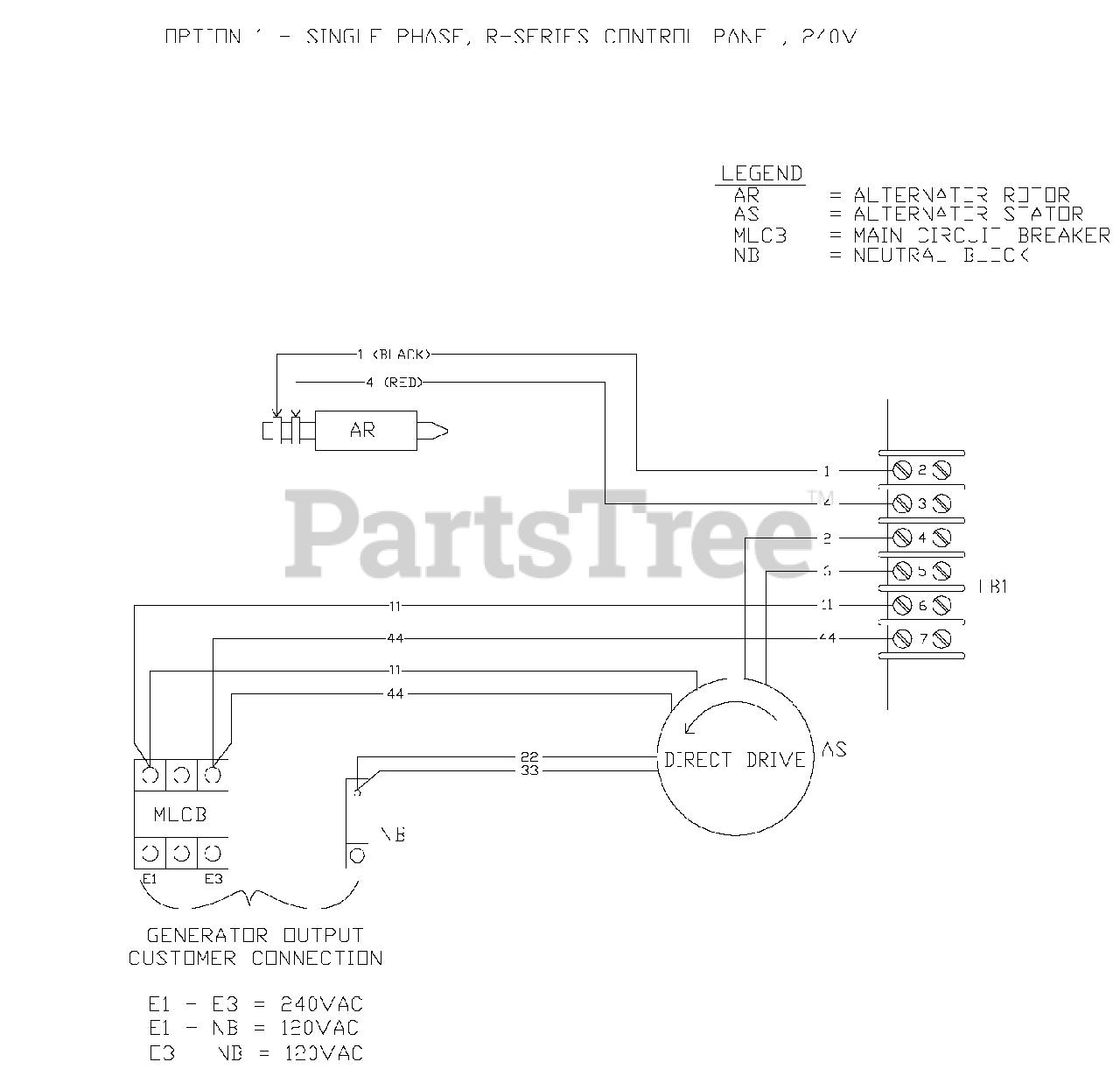 Generac QT03016JNSN - Generac 30kW Home Standby Generator (SN: 5057983 -  5128024) (2008) Wiring Diagram (0F6839) Parts Lookup with Diagrams |  PartsTree | Generac 30 Kw Wiring Diagram |  | PartsTree