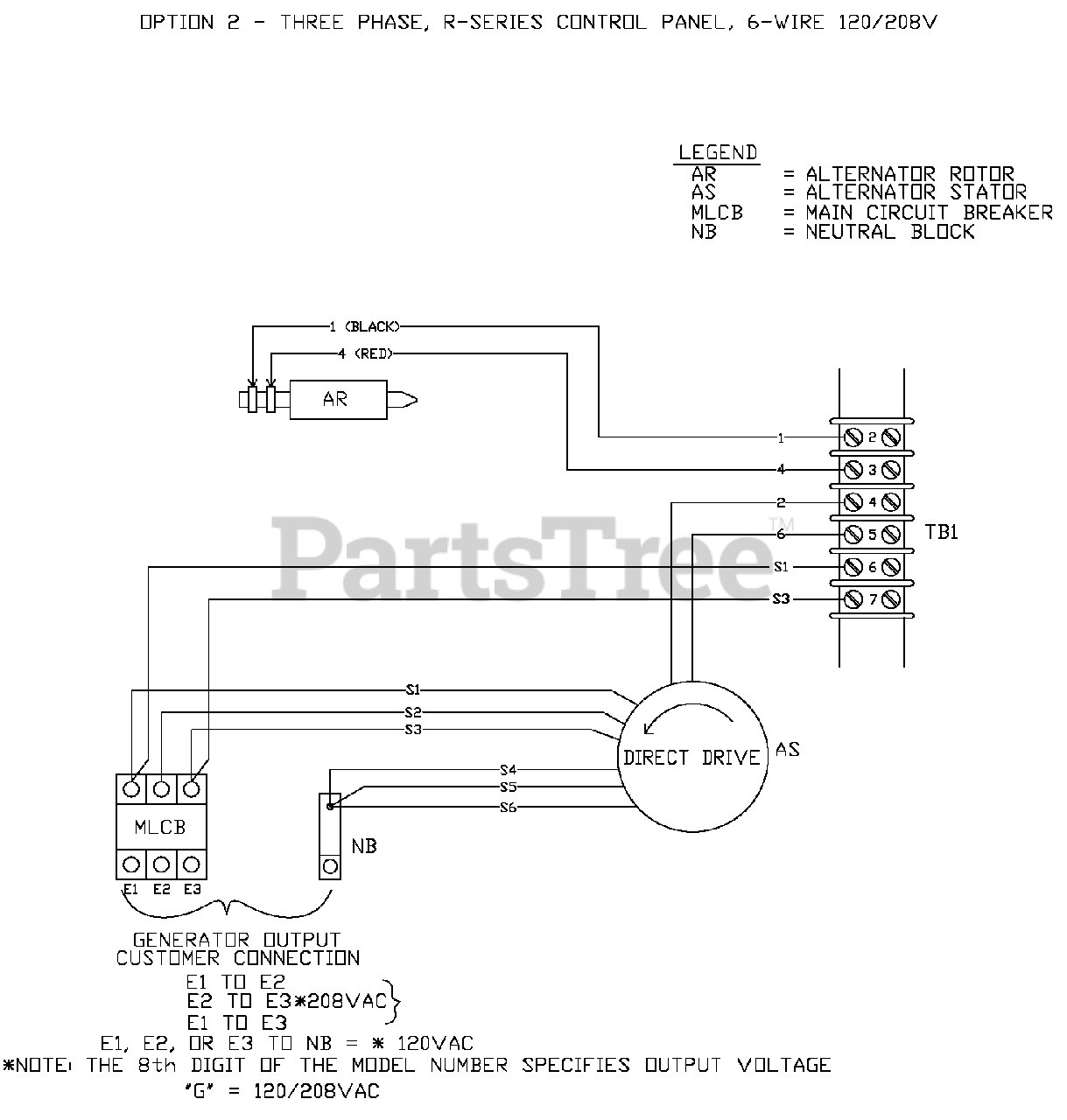 Generac QT03016JNSN - Generac 30kW Home Standby Generator (SN: 5686950 -  5868396) (2010) Wiring Diagram (OF6839) Parts Lookup with Diagrams |  PartsTree | Generac 30 Kw Wiring Diagram |  | PartsTree