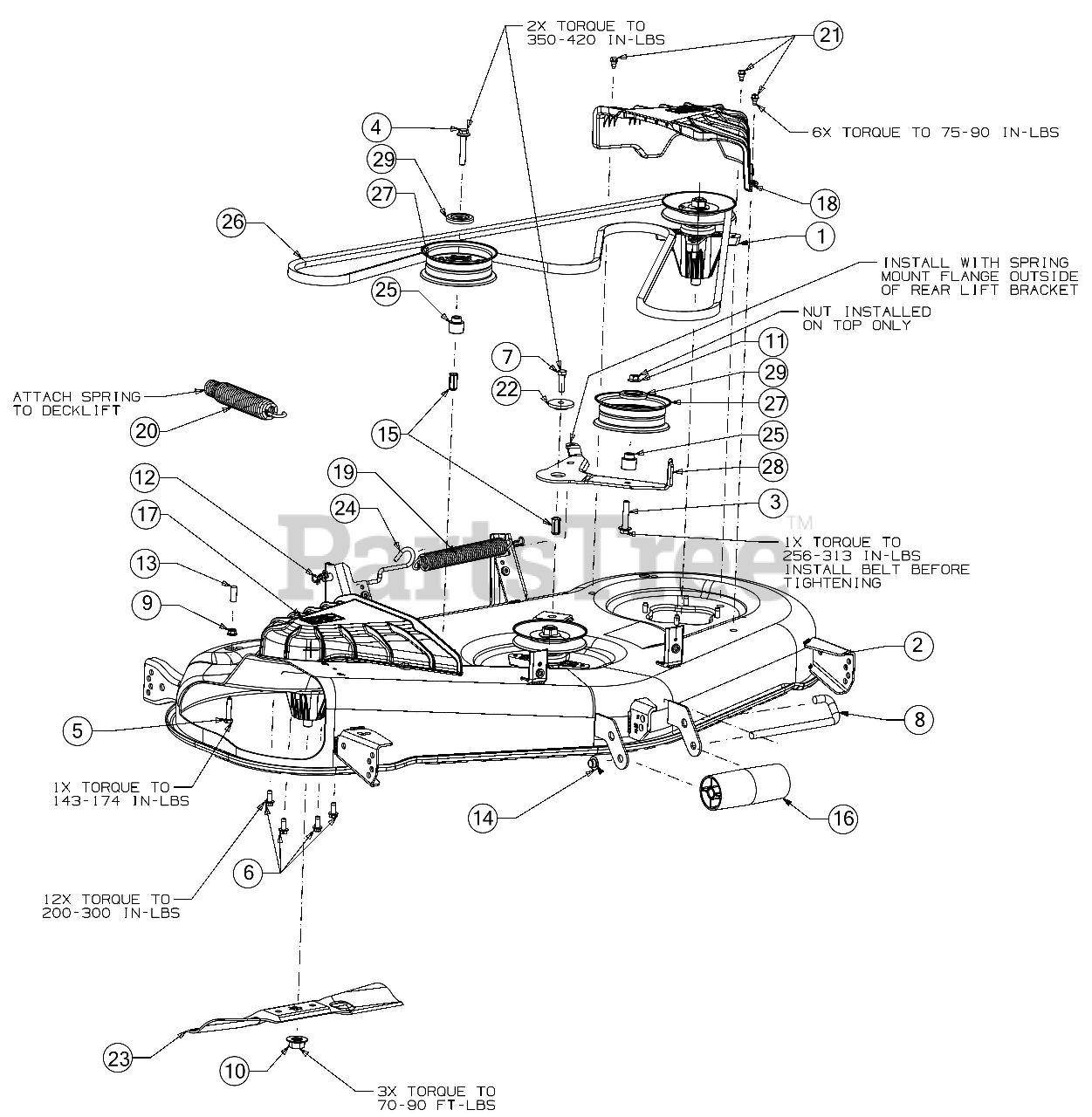 Cub Cadet Parts On The Deck Diagram For Xt1