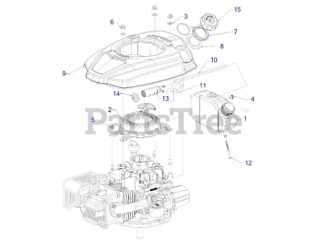 [SCHEMATICS_48IS]  Cub Cadet 7P71RU - Cub Cadet 159cc OHV Engine Starter, Fuel Tank & Shroud  Parts Lookup with Diagrams | PartsTree | Before Ohv Engine Diagram |  | PartsTree