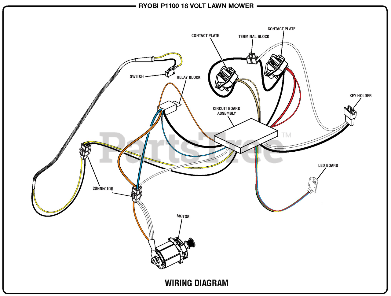 [SODI_2457]   Ryobi P 1100 (107178001) - Ryobi Walk-Behind Mower, 18 Volt Wiring Diagram  B Parts Lookup with Diagrams | PartsTree | Cub Cadet Wiring Diagram For 1100 |  | PartsTree