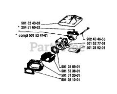 Husqvarna 61 - Husqvarna Chainsaw (1981-02) Diagrams and Parts List