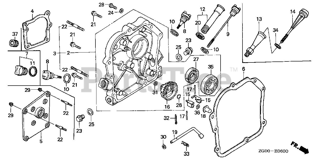 Crankcase Cover Gasket Fits Honda G100-11381-ZG0-800