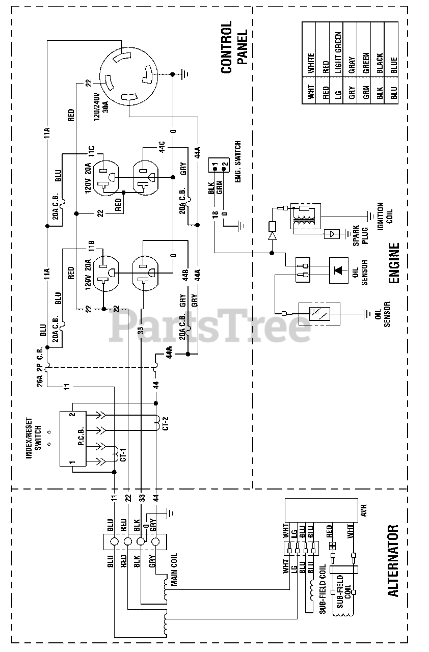 [SCHEMATICS_4JK]  Briggs & Stratton 030592-00 - Briggs & Stratton 6,250 Watt Portable  Generator Wiring Schematic (319319WS) Parts Lookup with Diagrams | PartsTree | Briggs Wiring Schematic |  | PartsTree