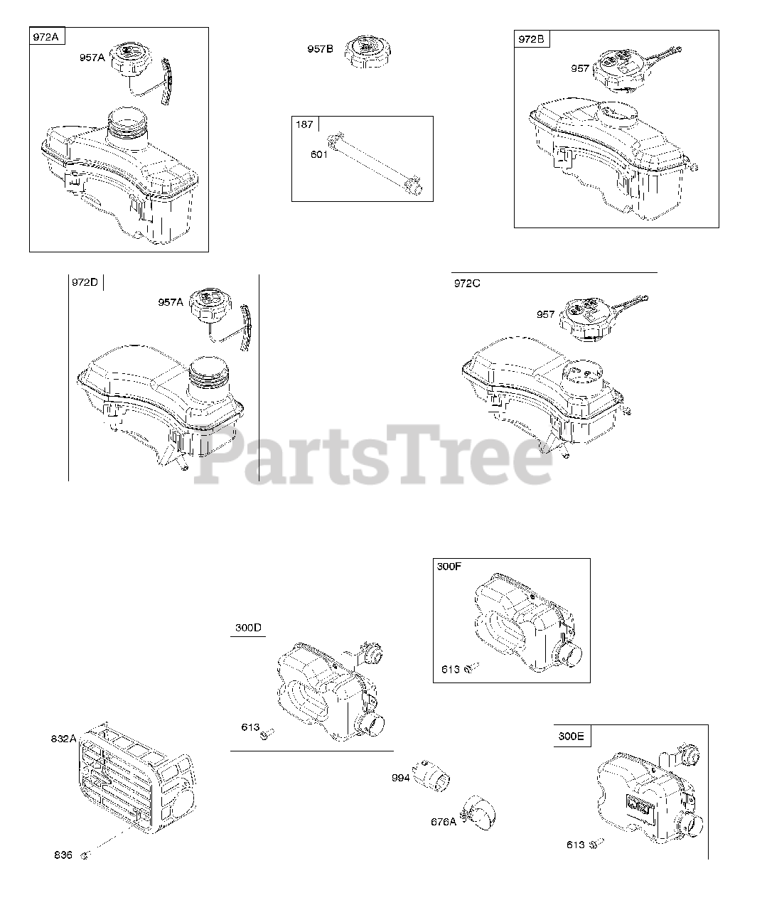 briggs & stratton 104m0b-0145-h1 - briggs & stratton vertical engine  exhaust system, fuel supply parts lookup with diagrams | partstree  partstree