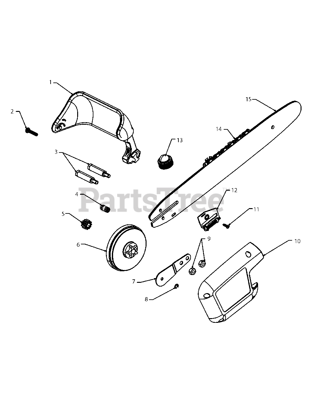 34 Remington Electric Chainsaw Parts Diagram