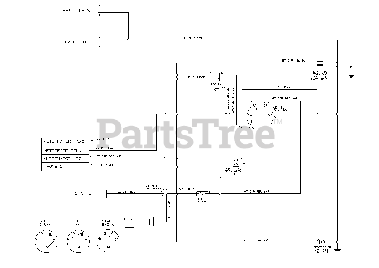 [DIAGRAM_3NM]  Troy-Bilt 13WN77KS011 - Troy-Bilt Pony Lawn Tractor (2013) Wiring Schematic  Parts Lookup with Diagrams | PartsTree | Wiring Diagram For Troy Bilt Pony Schematic |  | PartsTree