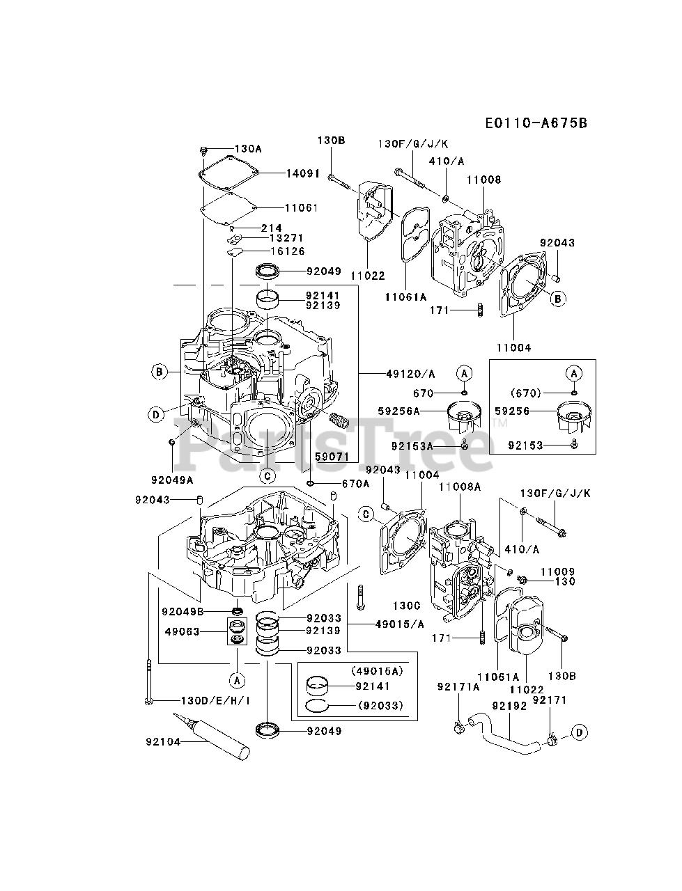 Kawasaki FD731V-AS04 - Kawasaki Engine CYLINDER/CRANKCASE Parts Lookup with  Diagrams   PartsTreePartsTree