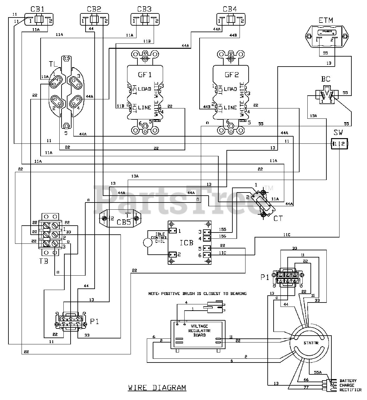 Husqvarna 1365gn Generator Wiring Diagram