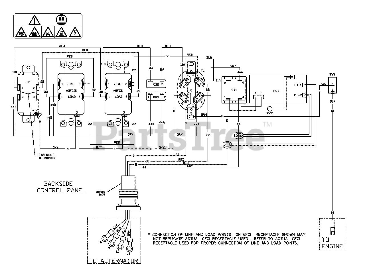 [DIAGRAM_38EU]  Briggs & Stratton 030592H-00 - Briggs & Stratton 6,250 Watt Portable Generator  Wiring Diagram (80016133WD) Parts Lookup with Diagrams | PartsTree | Briggs And Stratton Generator Wiring Diagram |  | PartsTree