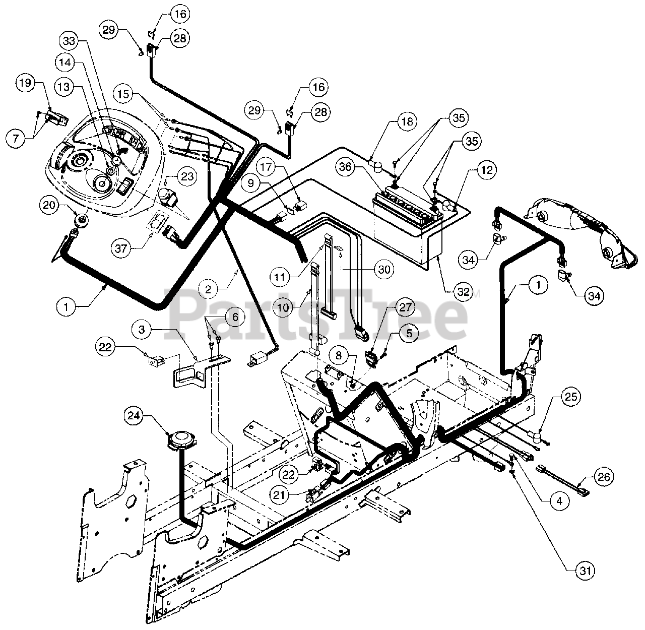 Cub Cadet 2130 Wiring Diagram from www.partstree.com