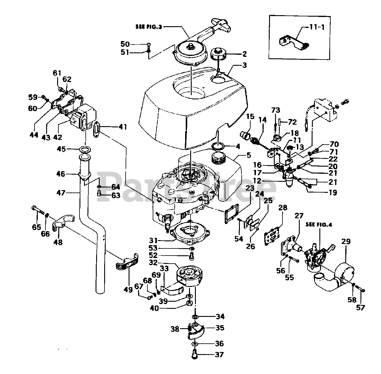 [ZTBE_9966]  Tanaka TOB-175 - Tanaka 1.75HP Outboard Engine Tank, Clutch & Muffler Parts  Lookup with Diagrams   PartsTree   Outboard Engine Diagram Clutch      PartsTree