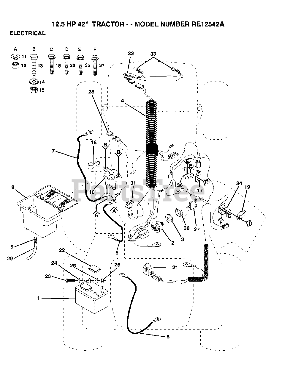 [DIAGRAM_5UK]  Electrolux/AYP RE 12542 A - Electrolux/AYP Lawn Tractor ELECTRICAL Parts  Lookup with Diagrams   PartsTree   Lawn Tractors Wiring Diagram For Electrolux      PartsTree