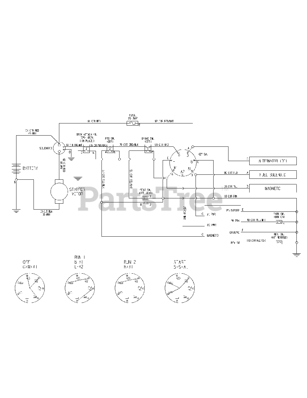 Wiring Diagram For Troy Bilt Riding Mower from www.partstree.com