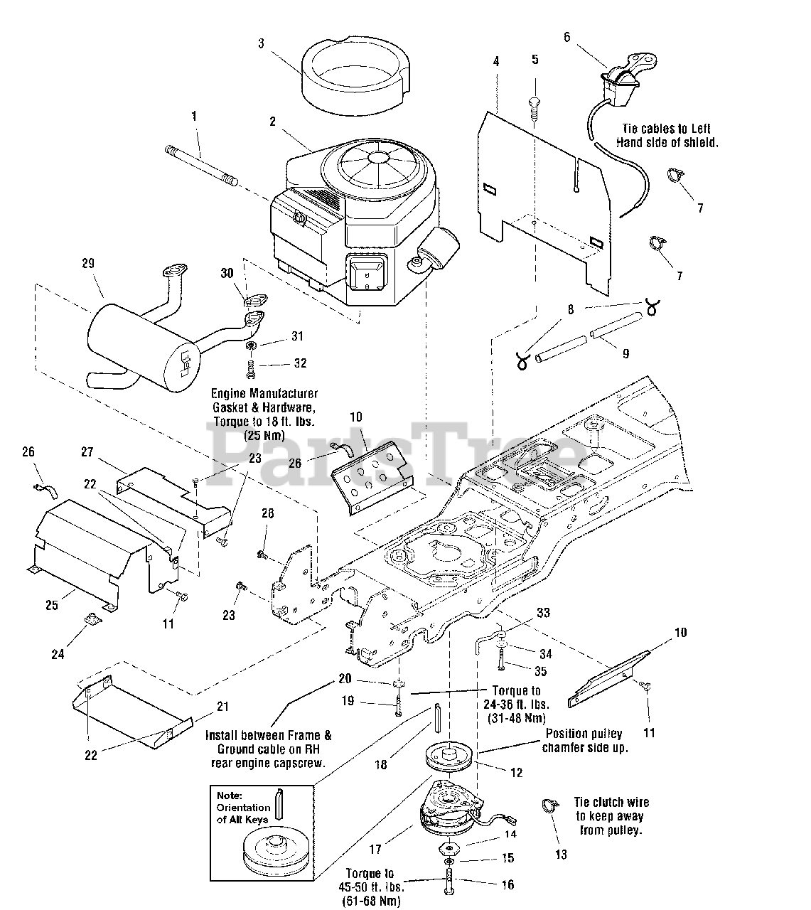 Simplicity 2690036 Simplicity Broadmoor Lawn Tractor 16hp Engine Group Electric Clutch 16hp 18hp Briggs Stratton Vanguard Parts Lookup With Diagrams Partstree