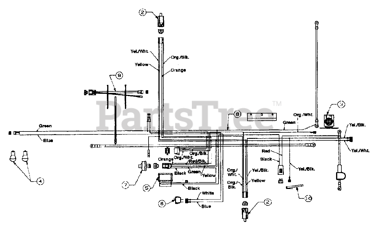 MTD 13BN673G033 - MTD Lawn Tractor (2001) (Ace Hardware) Electrical  (Kohler) Parts Lookup with Diagrams   PartsTreePartsTree