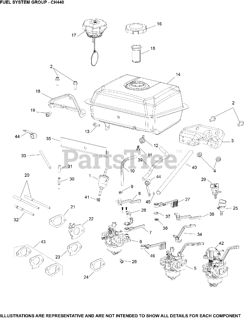 Kohler Ch440 3209 Kohler Command Pro Engine Made For Toro 14hp 10 5kw Fuel System Parts Lookup With Diagrams Partstree