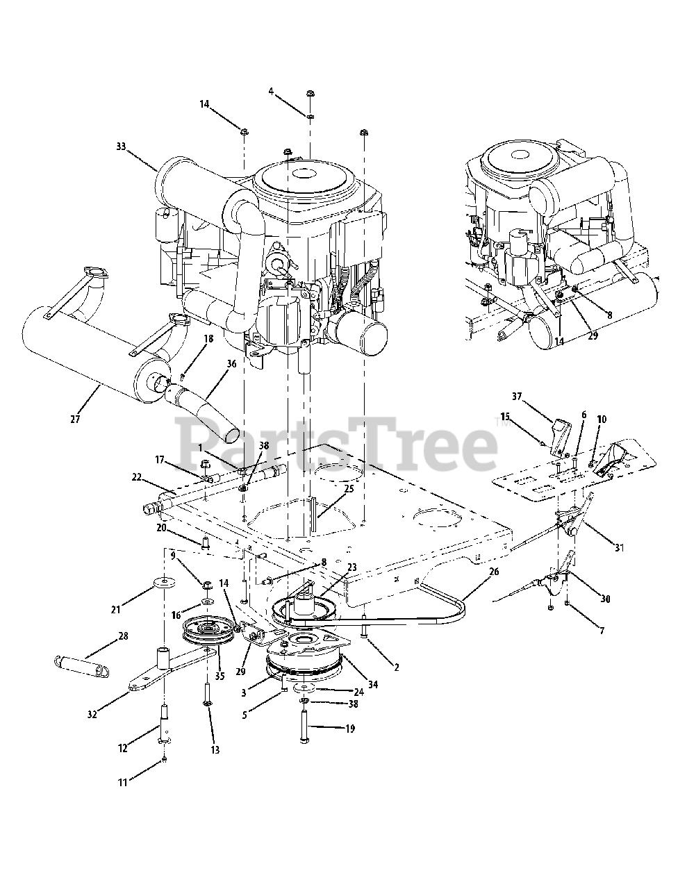 Cub Cadet Parts On The Kohler Engine Accessories 27hp