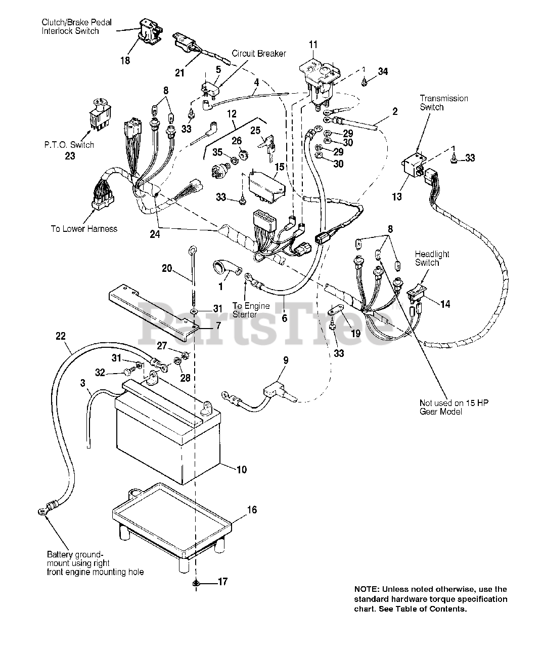 Agco 1616 H 1692864 Agco Lawn Tractor 16hp Electrical Main Harness Parts Lookup With Diagrams Partstree