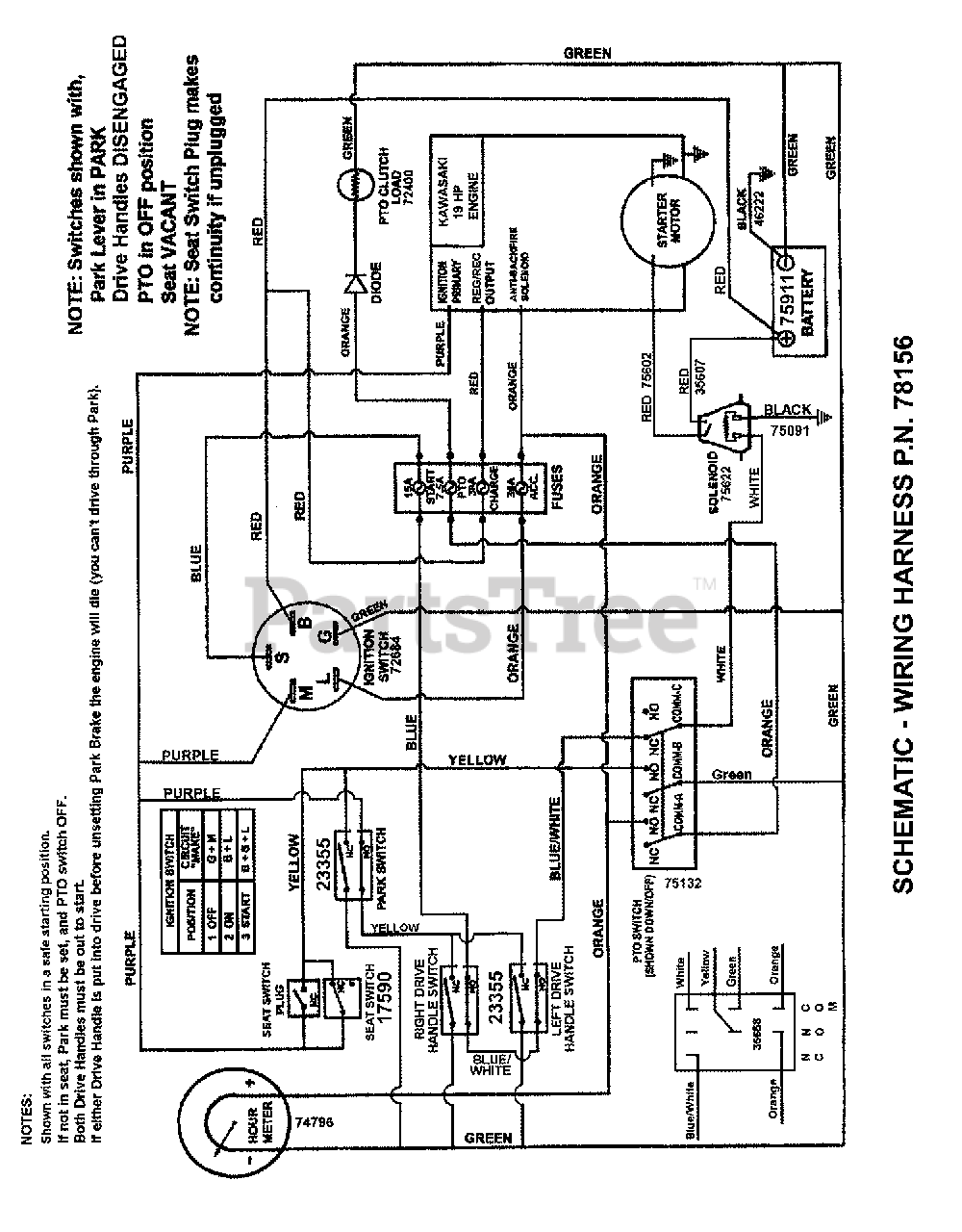 snapper mower wiring harness snapper czt 19480kwv  85672  snapper 48  zero turn mower  19hp  zero turn mower  19hp