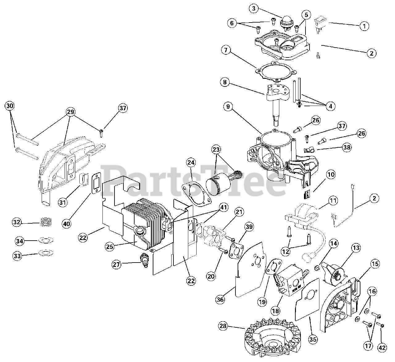 ryobi engine diagram ryobi 340 bv  41bs340g034  ryobi blower engine parts parts  ryobi blower engine parts
