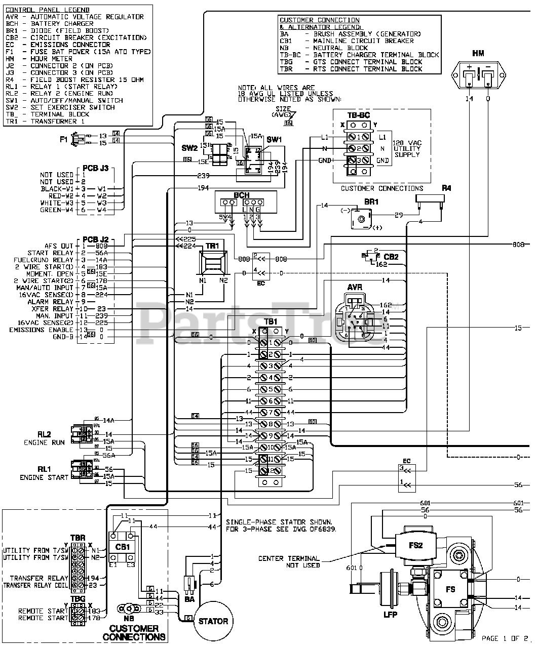 Generac QT02016JNSN - Generac 20kW Home Standby Generator (SN: 4981733 -  4981733) (2016) Wiring Diagram (0H4371) Parts Lookup with Diagrams |  PartsTreePartsTree