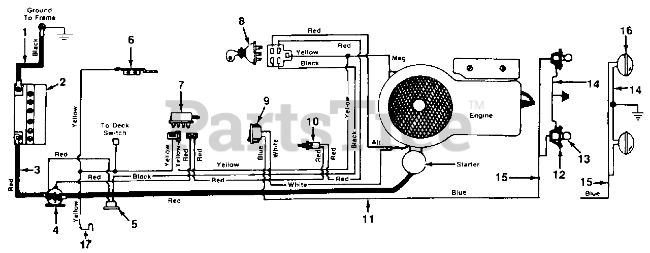 MTD 138-350-000 - MTD Lawn Tractor (1988) Electrical Parts Lookup with  Diagrams | PartsTreePartsTree
