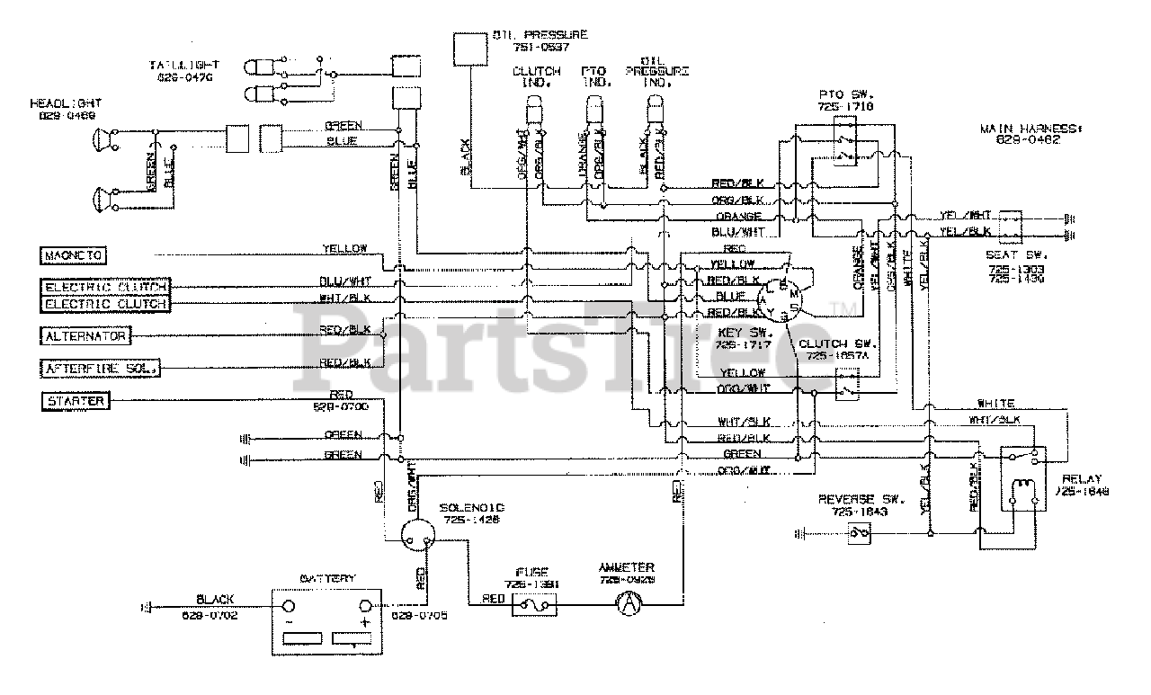 White Outdoor GT-185 (14AU836H190) - White Outdoor Garden Tractor (1997) Wiring  Diagram Parts Lookup with Diagrams | PartsTree | White Tractor Wiring Diagram |  | PartsTree