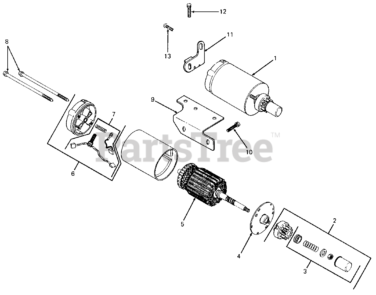 Cub Cadet Parts On The Electric Start Diagram For 1050