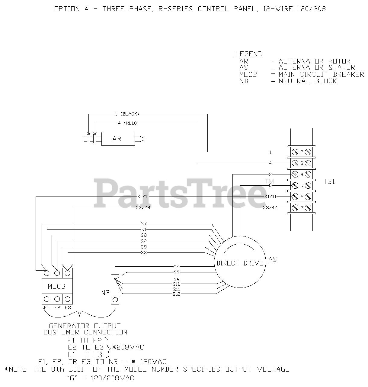 Generac QT03016JNSN - Generac 30kW Home Standby Generator (SN: 5601393 -  5667160) (2009) Wiring Diagram (0F6839) Parts Lookup with Diagrams |  PartsTree | Generac 30 Kw Wiring Diagram |  | PartsTree