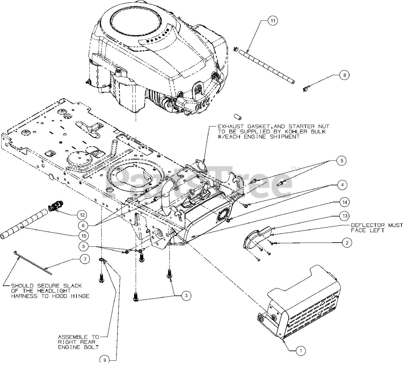 bronco engine diagram troy bilt 13wv78ks011 troy bilt bronco lawn tractor  2016  troy bilt bronco lawn tractor