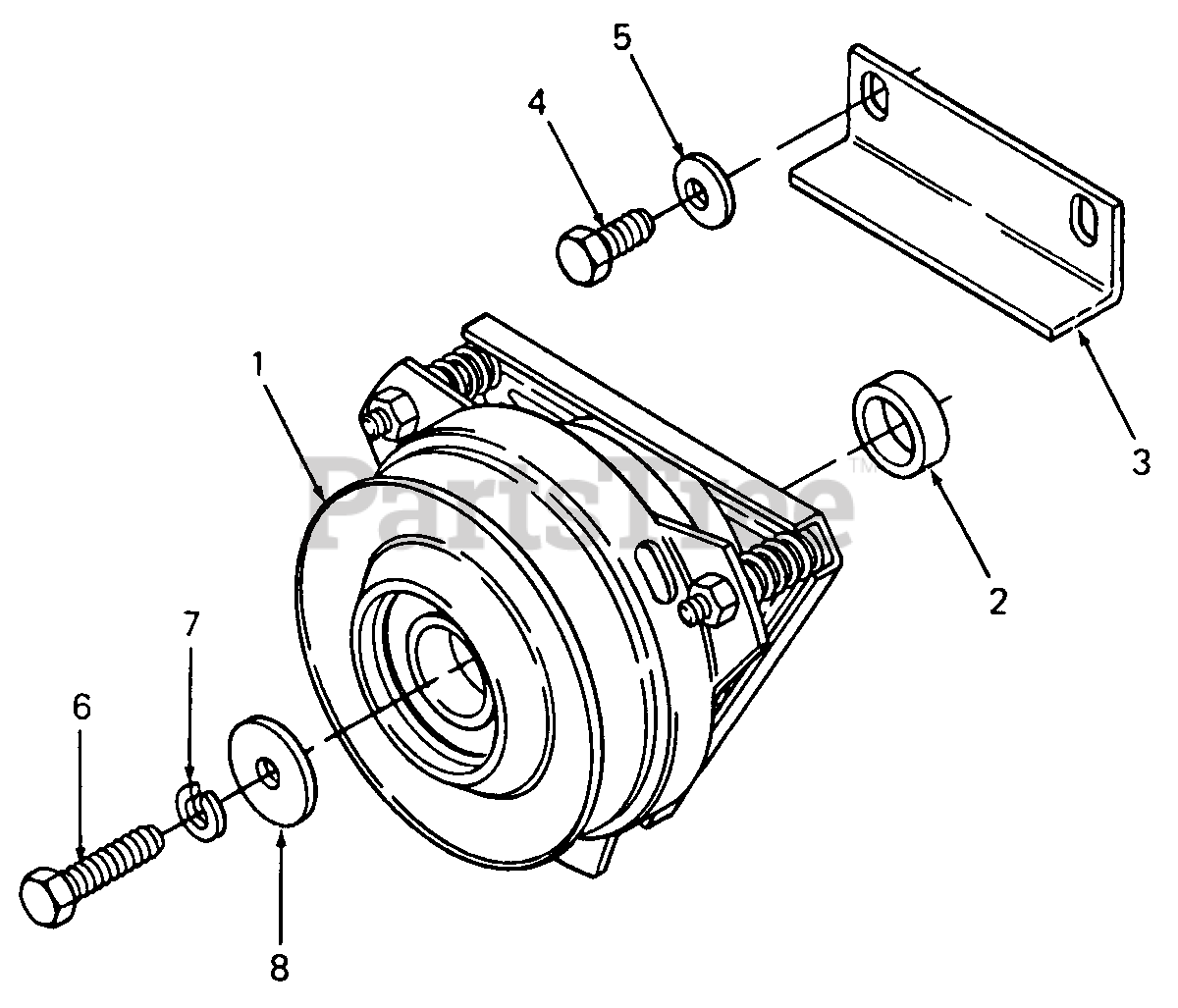 Cub Cadet Parts On The Pto Clutch Diagram For 1641  142-653-100