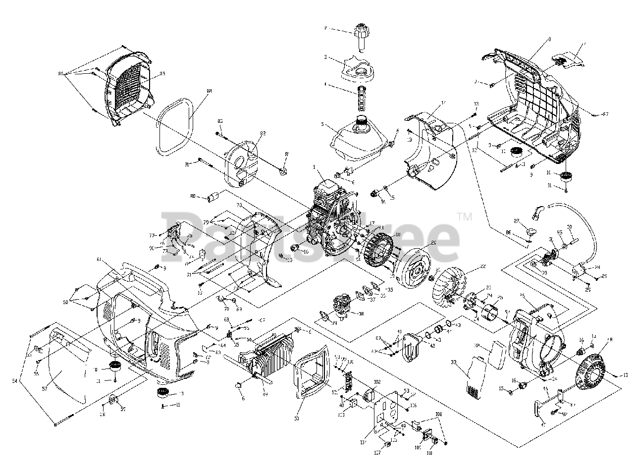 Honeywell HW2000 (0060660) - Honeywell Portable Generator (SN: 6283745C -  6386571C) (2011) No Assembly Title Parts Lookup with Diagrams | PartsTree | Hw 2000i Inverter Wiring Diagram |  | PartsTree
