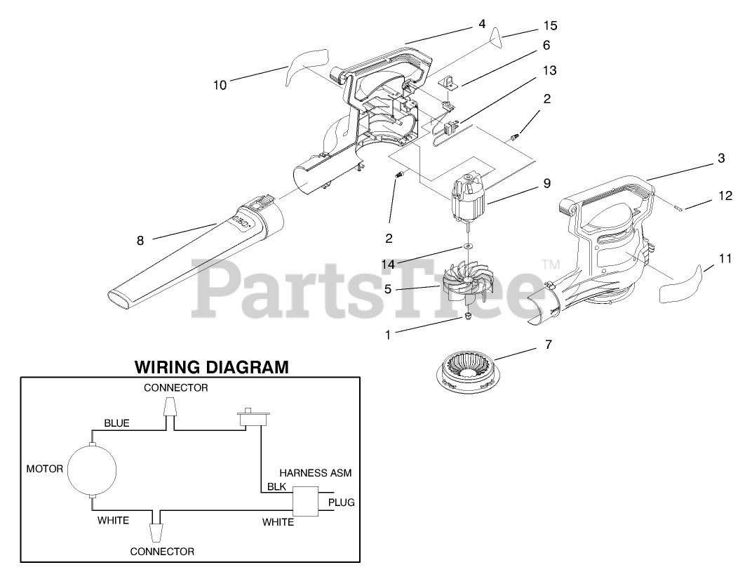 [DIAGRAM_5FD]  Toro 51586 - Toro Power Sweep Blower (SN: 089000001 - 089999999) (1998)  POWER SWEEP BLOWER ASSEMBLY Parts Lookup with Diagrams | PartsTree | Toro Leaf Blower Wiring Diagram |  | PartsTree