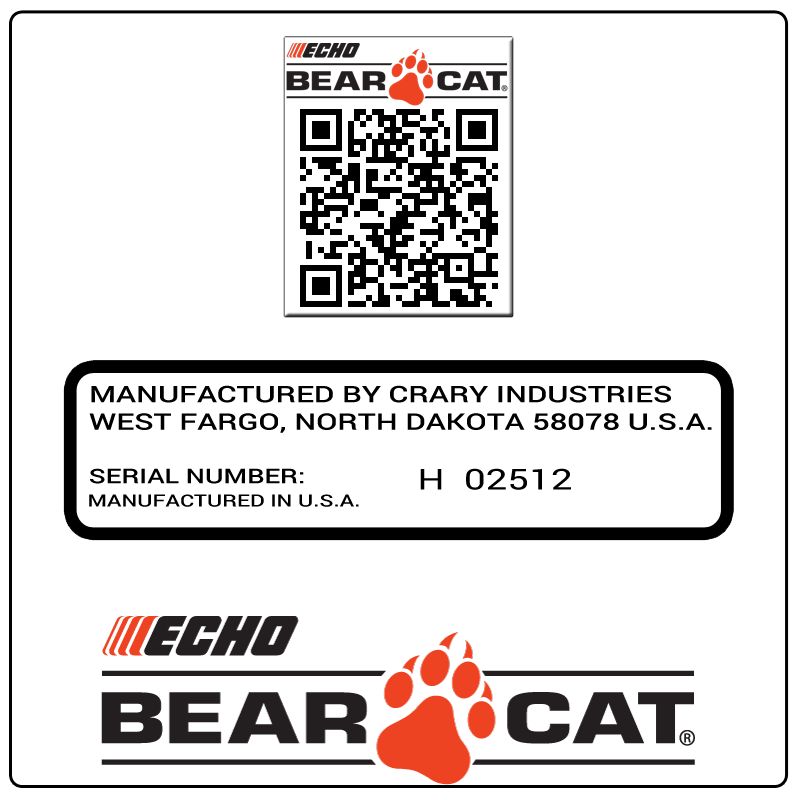 examples of what Bear Cat model tags usually look like and a large Bear Cat logo
