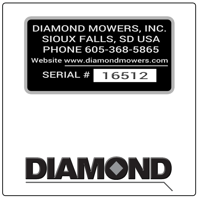 examples of what Diamond model tags usually look like and a large Diamond logo