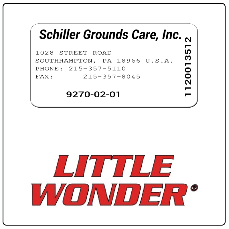 examples of what Little Wonder model tags usually look like and a large Little Wonder logo